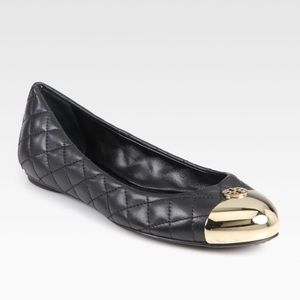Tory Burch Kaitlin Quilted Black Ballerina Flat